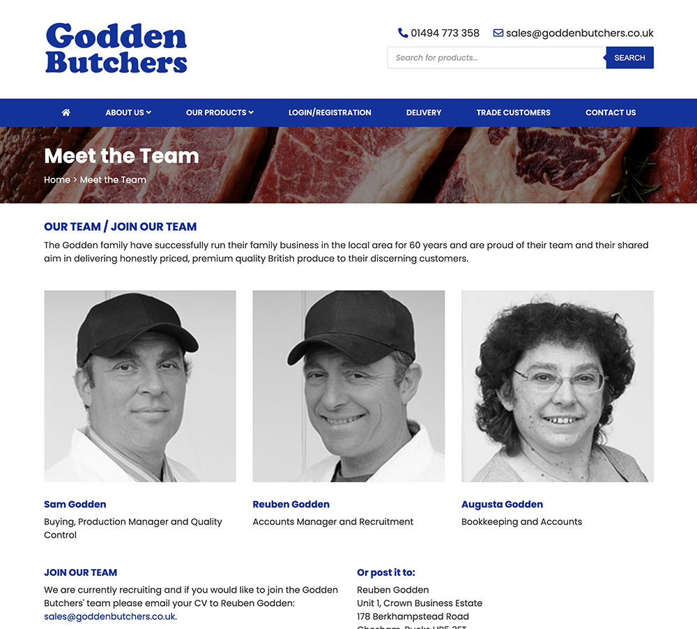 Godden Meet The Team Page