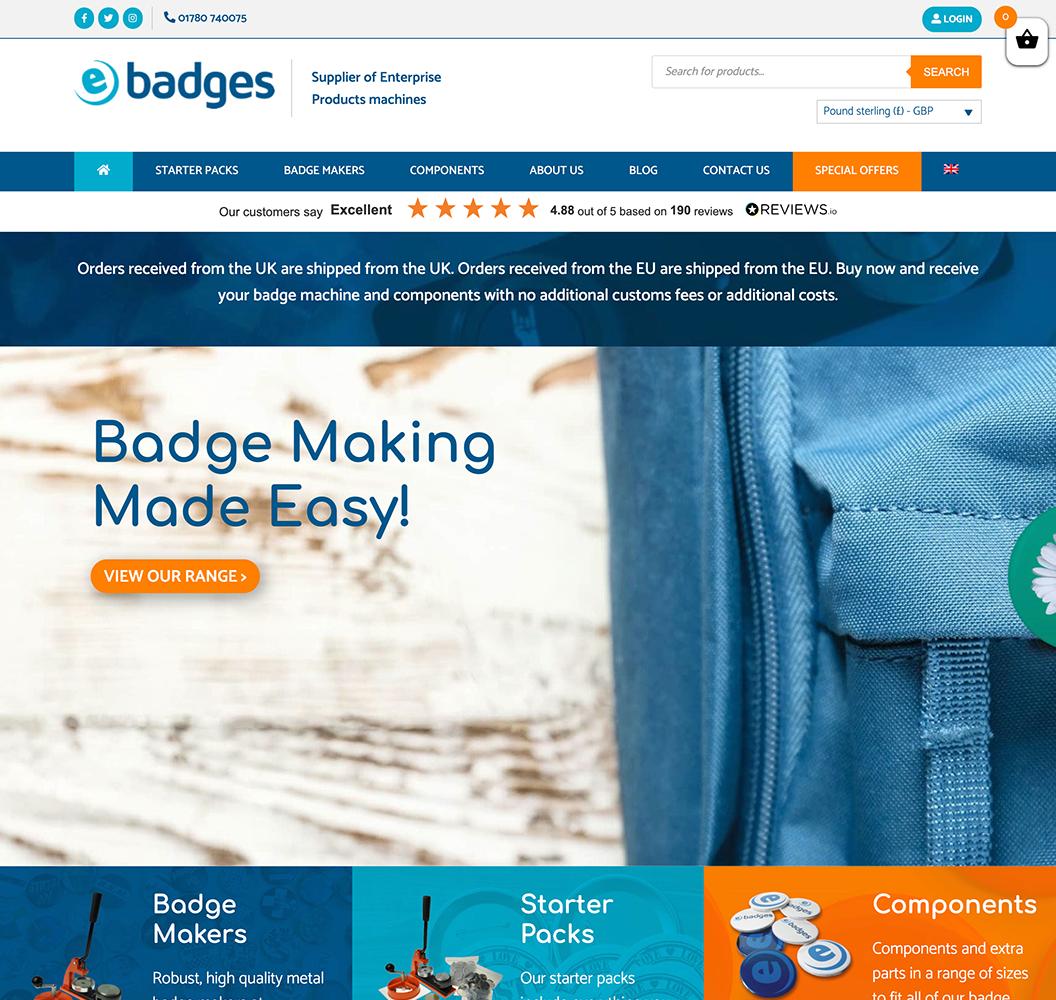 E Badges Homepage