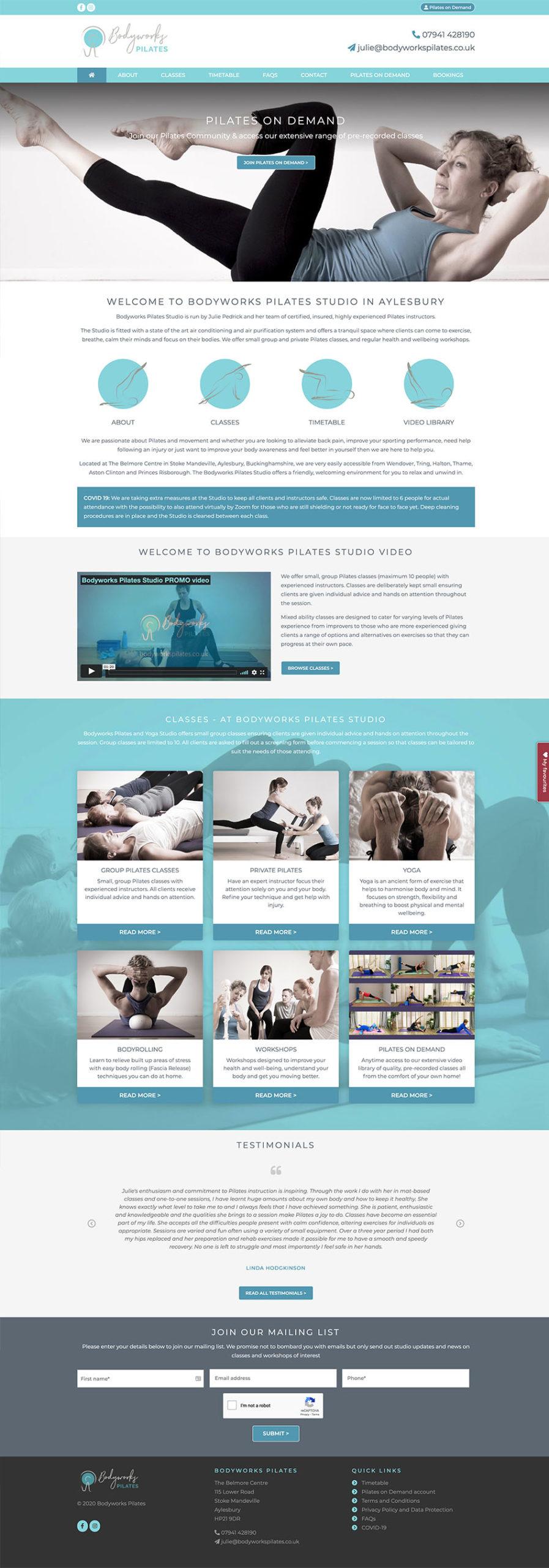 Bodyworks Pilates Home Page