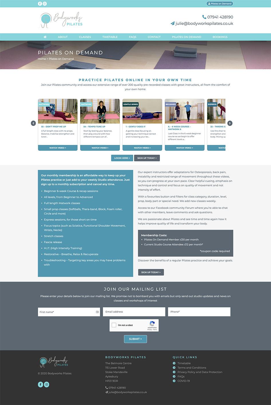 Bodyworks Pilates Login Page