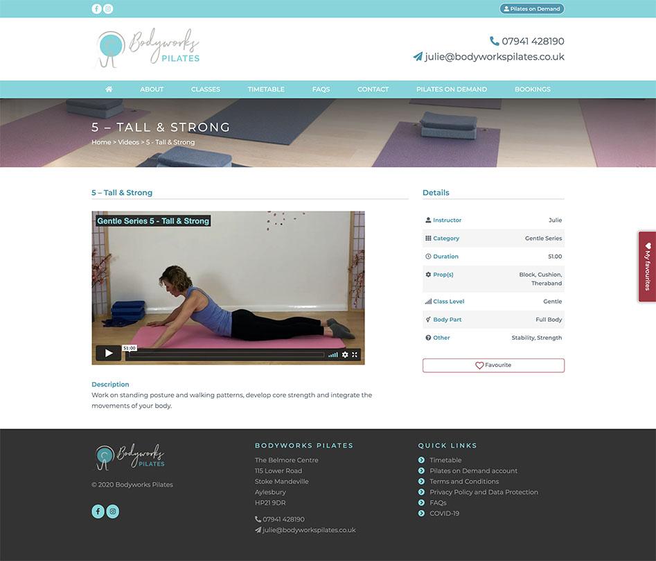 Bodyworks Pilates Video Page